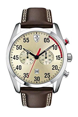Scuderia Ferrari D 50da uomo in pelle orologio 0830174
