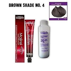 Loreal Professionnel Majirel- 4 (Brown) (49.5 g) Beauty Colouring Cream & Developer, Pack Of 2