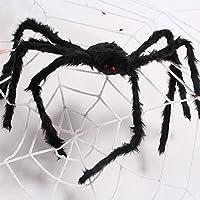 Kyson 2.5 m bianco super grande ragnatela corda con 1.5 m nero ragno  gigante per Pranks 20aad17d8b41