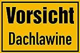 Schild PVC Vorsicht Dachlawine 200x300mm