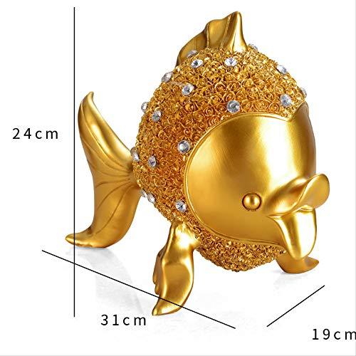Yuechenxin Harz Handwerk Goldfisch Ornamente Hotel Schlafzimmer Wohnzimmer Dekorationen Einrichten KTV Wein Schrank Platte SlabS -