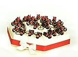 Torte Bomboniere 24Scheiben von Kuchen mit Motorrad Rote Schlüsselkette aus Harz mit weißen Confetti Crispus zum Schokolade