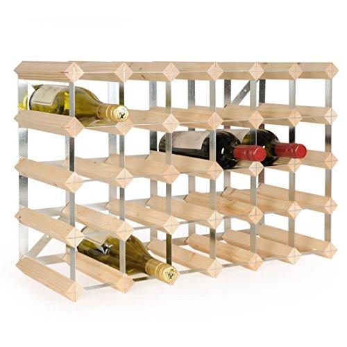 Weinregal/Flaschenregal System TREND, für 30 Fl, Holz Kiefer natur, komplett montiert,...
