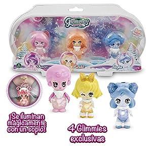 Glimmies Polaris -   Pack 3 Muñecas Coleccionables Glimmies Con Luz, Multicolor (Giochi Preziosi GLP02000)