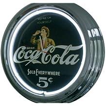 Neon Orologio Coke 5cent lampadina orologio orologio da parete decorativo orologio USA 50's Style Retro Orologio