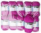 Schachenmayr Baby Smiles 500g Wollpaket, 10x50g Merino Mix Fb. 1037 pink, trocknergeeignete Babywolle mit Merino zum Stricken und Häkeln, Wollpakete Sonderposten