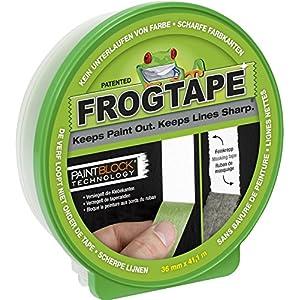 FrogTape Abklebeband - Malerkreppband mit Paint-Block Technologie - Kreppband für saubere Kanten beim Streichen & Lackieren - 36mm x 41m