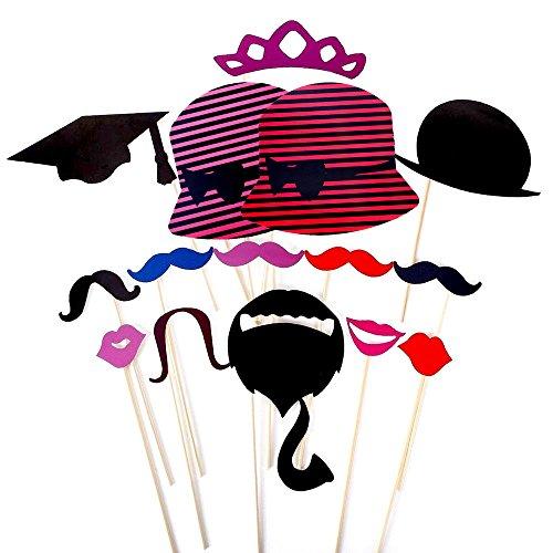 Foonii-76-pcs-photo-booth-props-Accessori-fai-da-te-colorati-occhiali-baffi-labbra-farfallino-cappelli-su-bastoni-per-matrimonio-partito-Natale-compleanno