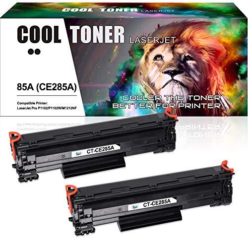 Cool Toner 2 Packs Kompatibel für Toner 85A CE285A für HP Laserjet P1102W P1102 Pro M1132 Druckerpatronen, Schwarz, 1600 Seite (M1212nf Drucker Hp)