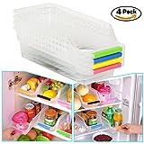 homeAct Kühlschrankbox Aufbewahrungsbox Kühlschrankkorb | 4er Set | grün