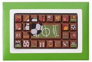Schokolade-online Geschenkpackung Fußball, 8 Stück je 70g, Größe: 123x181x11 mm