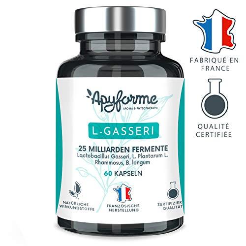 Probiotika Lactobacillus Gasseri Schlankheitsmittel- 25 Milliarden UFC pro 2g/Tag - Magensaftresistente Kapseln - 100{d9323512b4274d72c281af0e249993c16099a625c75b0b16a2077f319d9c0b1b} FRANZÖSICH - 30 Tage 60 Kapseln - In Frankreich hergestellt von Apyforme