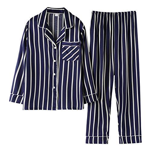 Rojeam Pijamas Mujer Hombre Invierno Pijamas Seda