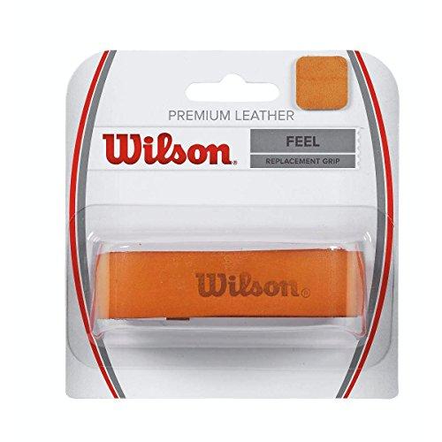 WILSON Premium Leather Replacement Grip Basisgriffbänder, Mehrfarbig/Braun, One Size
