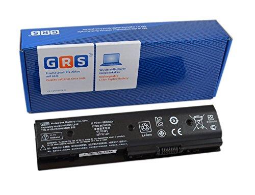 GRS Batterie avec 6600mAh HP Pavilion dv7-7000 HP dv6-7000 dv6-7002TX dv6-8000 dv4-5000 Envy M4 M6 Serie, remplacé: MO06 M006 HSTNN-YB3N HSTNN-LB3P 671567-831 MO09 HSTNN-LB3N M009
