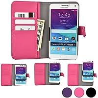 Funda Deslizable tipo Cartera Cooper Cases (TM) Slider para Smartphone de Prestigio MultiPhone 5300 Duo/5501 Duo/5504 Duo en Rosa (Acceso a cámara trasera; ranuras para tarjetas, bolsillo; cierre magnético)