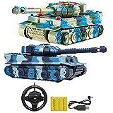 SH-Flying LKW Spielzeug, Fernbedienung Militärfahrzeug, RC Kampfpanzer, Military Car Truck Spielzeug mit Lichtern und Tönen RC Panzer Kampfpanzer Modell