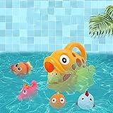 giochi d acqua giardino-TianranRT★ Baby bagno acqua di balneazione giocattoli di deglutizione pesce grande pesce piccolo pesce spray set di animali interessante-arancia