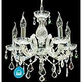 Lámpara de araña lámpara de cristal SPECTRA ø45cm CRYSTAL de SWAROVSKI + Murano vidrio brazos