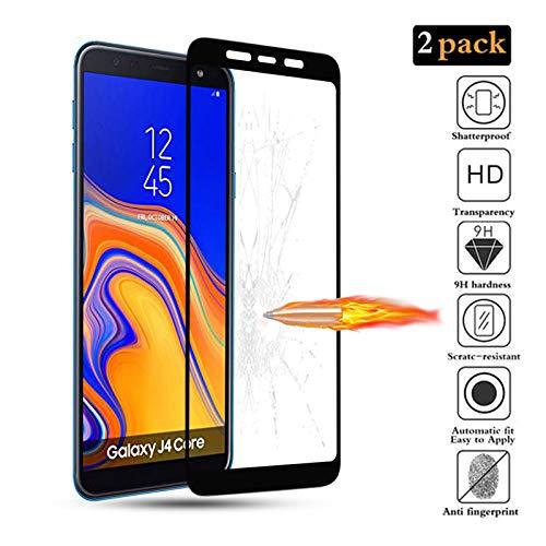GoodcAcy [2 Stück] Panzerglas Schutzfolie für Samsung Galaxy J4 Core Bildschirmschutzfolie, Tempered Glas Schutzglas, 9H Härte, Anti-Kratzen, Anti-Öl, Anti-Bläschen, Schützen Vision