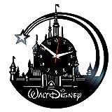 EVEVO Walt Disney Wanduhr Vinyl Schallplatte Retro-Uhr groß Uhren Style Raum Home Dekorationen Tolles Geschenk Wanduhr Walt Disney