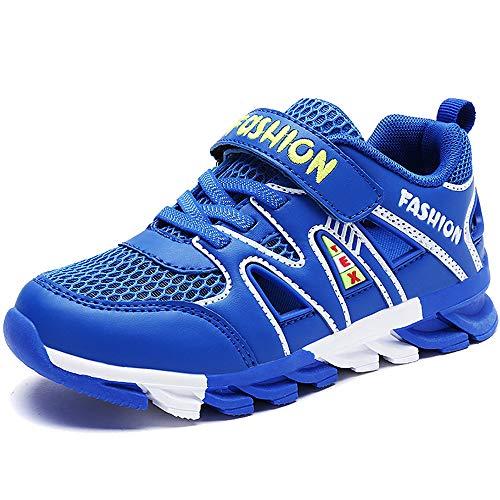 Gaatpot Jungen Sandalen Sommer Kinder Klettverschluss Sandaletten Outdoor Atmungsaktiv Mesh Sportschuhe Sneakers Schuhe Blau 29 EU = 30 CN