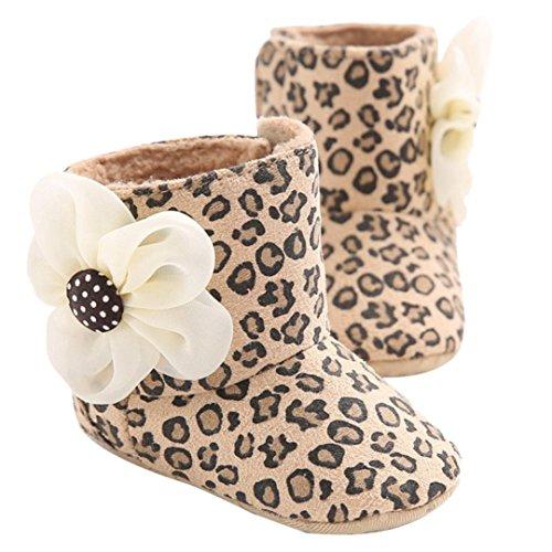 Clode® Kleinkind Mädchen Warm Halten Baumwolle Schneestiefel Weiche Sohlen Krippe Schuhe Stiefel Winterstiefel Braun