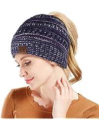782306be17f90 Tacobear Mujer Sombreros de Invierno Cola de Caballo Gorro Gorro de Punto y  el Agujero Mujer