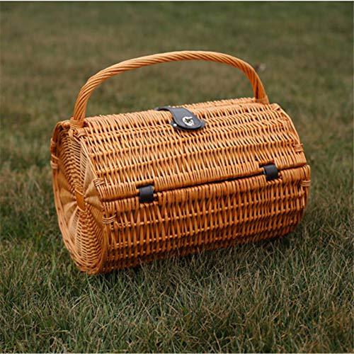 SNKTBWANGCY Vintage Wicker Picknickkorb Set für 2 Personen Willow Picknickkorb im Freien -