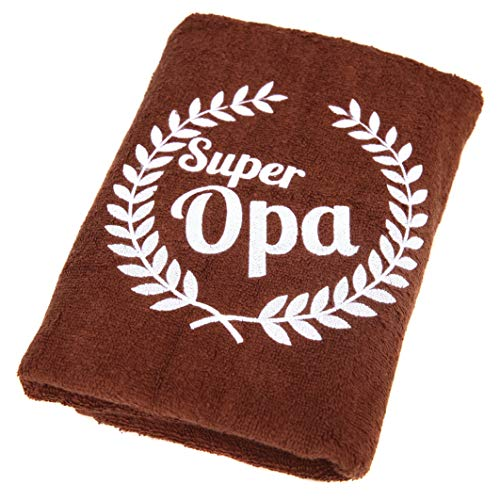 Abc Casa Super Opa Handtuch zum Geburtstag, Jahrestag, Namestag, Valentinstag, Vatertag - Eine praktische Jubiläum Geschenkidee für der Beste Opa, Großvater