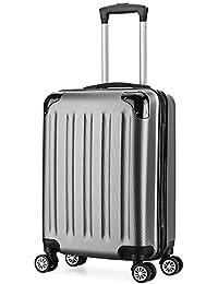 Valise cabine 55cm bagage a main ABS 4 roues rigide ultra leger 6 couleurs 40L