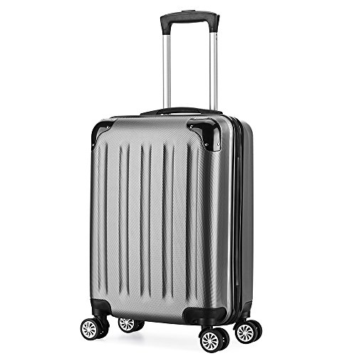 Valise cabine 55cm bagage a main ABS 4 roues rigide...