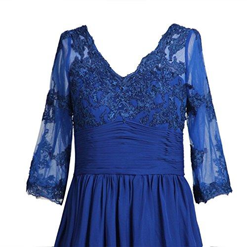 Promworld Damen Kniel?nge V Hals Mutter der Braut Kleid Royal Blue