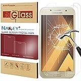 [2 Pack]Samsung A5 2017 Protection d'Écran, Nakeey Film de 3D Incurvé en Protecteur Ultra Clair Verre Trempé pour Galaxy A5 2017 - Protecteur Transparent HD Clear Anti-casse Anti-rayures