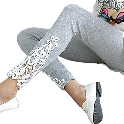 Ularma Ultrafinos pantalones, Leggings de encaje moda otoño