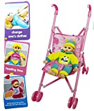 #7: Baby Stroller for Doll Toy Infant Kids Carriage Stroller Trolley Nursery Toy (Blue)