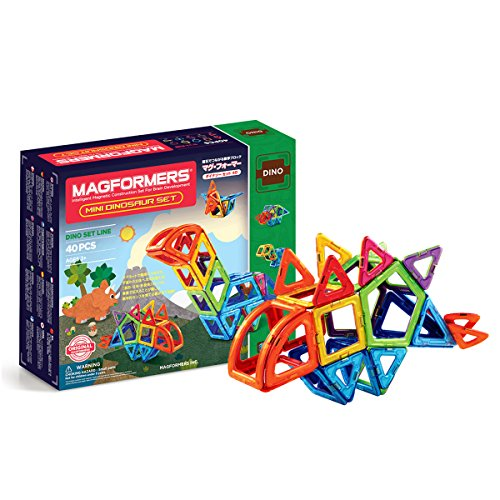 Preisvergleich Produktbild Magformers 708003Mini Dinosaurier Magnetischer Konstruktion Set (40)