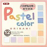 Japanisches Origami Papier Pasteltöne 12 Farben 15x15cm 60 Blatt