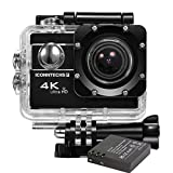 ICONNTECHS IT 4K Ultra HD Wasserfeste Sport-Actionkamera, 170° Weitwinkellinse, Full HD 1080P WiFi HDMI Camcorder, Gratis Zubehör für Helm, Tauchen, Radfahren und Extremsport