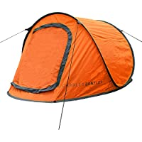 Charles Bentley 2 Person Two Man Outdoor Camping Festival Instant Pop Up Tent - Available In Green & Grey and Orange & Grey