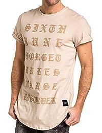 Sixth June - Tee-shirt homme beige oversize imprimé