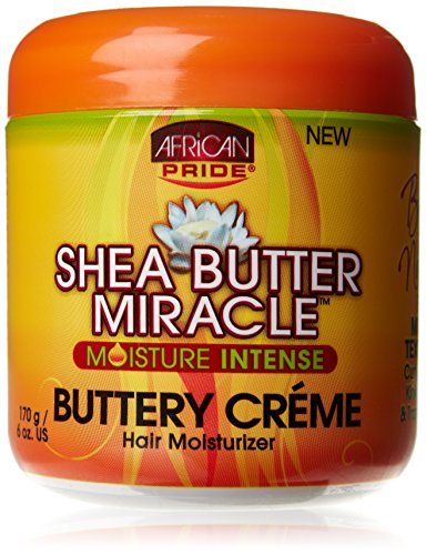 African Pride Shea Butter Miracle Buttery Creme 6oz Jar by African Pride (Haar American Kamm African)