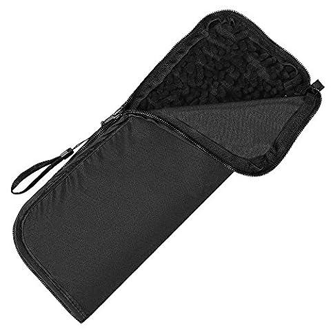 PLEMO Parapluie Étui Noir Multifonction et Portable pour Voiture et Sac, Doublure Super Absorbant et Coque Resistant à L'eau 32 cm de Longueur