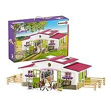 SCHLEICH- Playset Centre équestre avec cavalière et Chevaux Horse Club, 42344, Multicolore