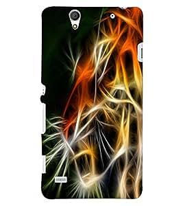 ColourCraft Tiger Look Design Back Case Cover for SONY XPERIA C4 E5303 / E5306 / E5353