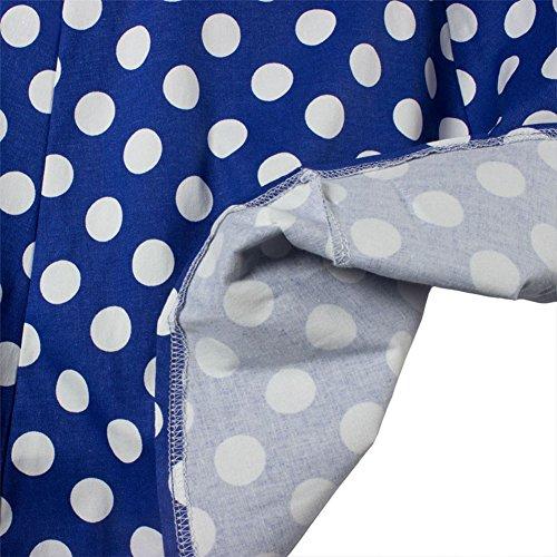 hibote Sexy Jupe Big Swing Rockabilly jupe noire ¨¤ pois Imprimer Retro Vintage Rockabilly 50s Bleu Dot