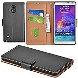 Aicoco Galaxy Note 4 Hülle Schutzhülle Tasche Flip Case für Samsung Galaxy Note 4 Handyhülle - Schwarz