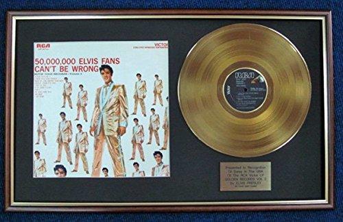 Elvis Presley-USA Disco LP + Oro 24Carati, colore golden Records Vol 2