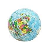 Juguetes antiestrés,CHshe,Alivio del estrés Mapa del mundo, Bola de espuma Atlas Globo,Bola de la palma Planeta Tierra Bola 93 mm,regalos perfectos para adultos