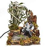 Pastore per Presepe in Movimento 17 cm x 17 cm Il Raccoglitore di Olive